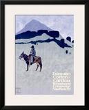 Wonalancet, Peruvian Cotton Framed Giclee Print by Ludwig Hohlwein