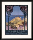 Cote d'Azur Cap Ferrat Framed Giclee Print by George Dorival
