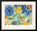 Blue Flowers Posters by Gayle Kabaker