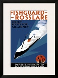 Fishguard-Rosslare, artwork for GWR, 1932 Framed Giclee Print