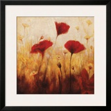Poppies and Daisies I Poster by Natalie Carter