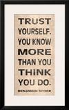 Confía en ti mismo Lámina por N. Harbick
