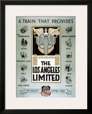 Union Pacific Los Angeles Limited Poster Framed Giclee Print