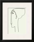 Tete de Profil, c.1911 Posters by Amedeo Modigliani