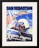 San Sebastian, XI Circuito Automovilista Framed Giclee Print by Viejo Santamarto Acebo