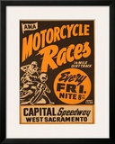 Capital Speedway, California Framed Giclee Print