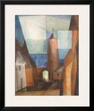 Gruetzturm in Treptow Prints by Lyonel Feininger