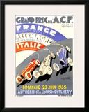 Grand Prix de l'A.C.F., 1935 Framed Giclee Print by Geo Ham