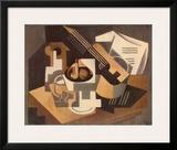 Guitare et Compotier sur une Table, c.1918 Art by Juan Gris