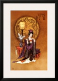 Lady with Lamp Poster