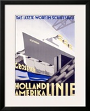 Holland to America Line Framed Giclee Print