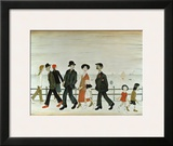 On the Promenade Posters by Laurence Stephen Lowry