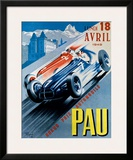 Grand Prix Automobile de Pau, 1949 Framed Giclee Print by Andre Bermond