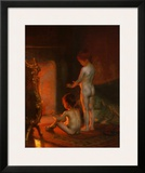 After the Bath, 1890 Poster by Paul Peel
