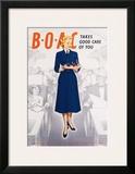 BOAC Framed Giclee Print