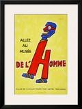 Allez Au Musee De Lhomme Poster by Raymond Savignac