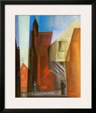 Arch Tower I Print by Lyonel Feininger
