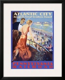 Looking Deco Framed Giclee Print