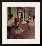 Dancing Class Print by Edgar Degas