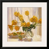 Yellow Tulips and Apples Posters by Valeri Chuikov