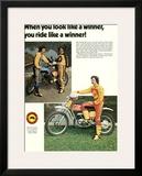 Bultaco Miura Motorcycle Gear Framed Giclee Print