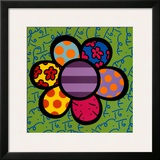 Flower Power IV Prints by Romero Britto