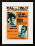 Sarah Vaughan and Miles Davis at the Howard Theatre, Washington D.C. Poster by Dennis Loren