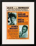 Sarah Vaughan and Miles Davis at the Howard Theatre, Washington D.C. Poster by Dennis Loren