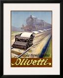 Olivetti Framed Giclee Print by Ernesto Pirovano