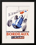 Grand Prix International de Vitesse, Bordeaux Framed Giclee Print