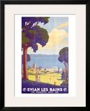 Evian les Bains Framed Giclee Print by Geo Francois
