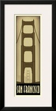 San Francisco Framed Giclee Print by Steve Forney