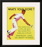 What's Your Score Framed Giclee Print