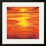 Red Evening Prints by Robert J. Ford