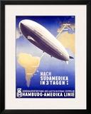 Graf Zeppelin, Hamburg to Amerika, c.1937 Framed Giclee Print
