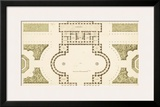 Antique Garden Plan II Prints by Jean Deneufforge