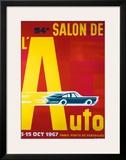 54e Salon de l'Automobile Framed Giclee Print by Pierre Fix-Masseau