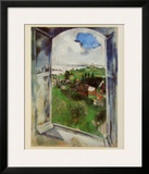 Window with View on the Island Bréhat, c.1924 Posters by Marc Chagall