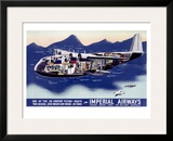 Imperial Airways, Flying Boat Framed Giclee Print