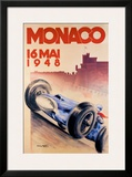 Grand Prix de Monaco, 1948 Framed Giclee Print by George Mattei