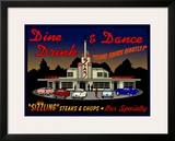 Stans Night Diner Framed Giclee Print