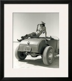 Pin-Up Girl: El Mirage High Boy Framed Giclee Print by David Perry