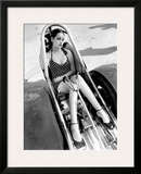 Pin-Up Girl: Nhra Dragster Framed Giclee Print by David Perry
