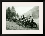 Bultaco Motocross Starting Gate Framed Giclee Print