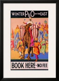 Winter P&O in the East Framed Giclee Print by Dorothy Newsome
