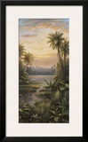 Tropical Lagoon II Prints by  Montoya