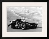 Moto Ducati Sidecar Motorcycle Race Framed Giclee Print