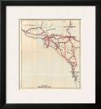 California: Ventura, Los Angeles, San Bernardino, Orange, and San Diego Counties, c.1896 Prints by George W. Blum