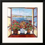 Flowers and Seascape Poster by Suzanne Etienne