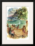 Hawaii Framed Giclee Print by Louis Macouillard